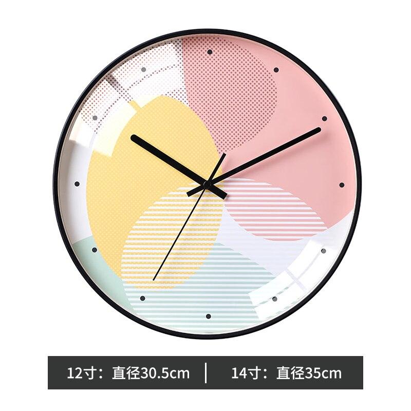 Bedroom Decorative Wall Clock Glass Nordic Wall Watch Modern Design Wall Clocks Decorative Watches Home Decoration Clock II50BGZ