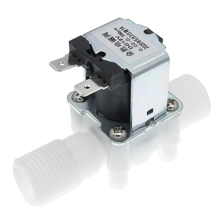 Пластиковый DC 12V электрический магнитный клапан управления водой электромагнитный клапан переключатель нормально закрытый 1/2