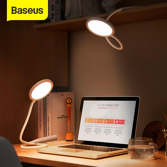 Baseus Flexible Table Lamp Rechargeable LED Desk Lamp Foldable Flexo Lamp Hangable Night Light for Study Read in Office Bedroom