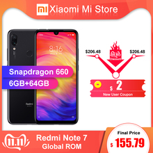 Xiaomi Redmi Note 7 6GB 64GB WCDMA/GSM/LTE Quick Charge 4.0 Bluetooth 5.0 Octa Core Fingerprint Recognition
