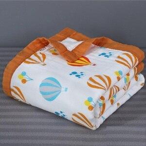 Image 1 - Детское муслиновое одеяло, 100% хлопок, 120*150 см, для новорожденных, 6 и 4 слоя