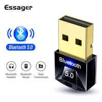 Essager-Adaptador USB Bluetooth 5,0, Dongle para ordenador, teclado de ratón inalámbrico, PS4, Aux, Audio, Bluetooth 5, receptor transmisor