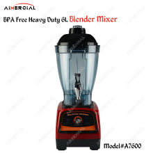 A7600 BPA free 2800W Heavy Duty 6L Blender Mixer Commercial Juicer Food Processor Ice Smoothie Blender with Japan Blade a7400 2800w bpa free 3hp 3 9l heavy duty commercial blender professional power blender mixer juicer food processor japan blade