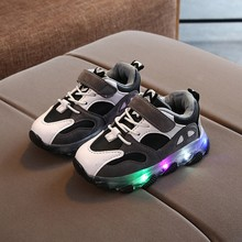 Size 21-30 Children LED Sneakers Boy Girls Lighting Glowing Shoes for Kid Sneaker Non Slip Sports Shoes Boots Boys Baby Sneakers