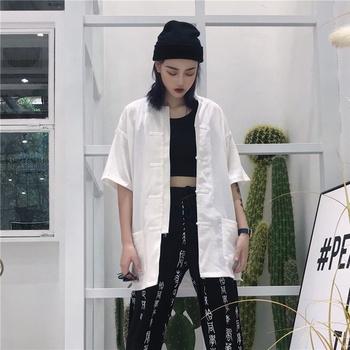 Tradycyjna chińska bluzka Top Cheongsam strój Tang koszula azjatycka Streetwear dziewczyna dorywczo Harajuku Qipao gotycka odzież kobieta 11826 tanie i dobre opinie Tangslady Poliester CN (pochodzenie) Topy WOMEN Suknem