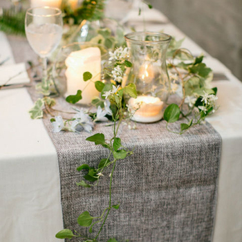 1pcs Rustic Table Runner Natural Imitated Linen Cloth Wedding Decor for Christmas Party - discount item  53% OFF Home Textile