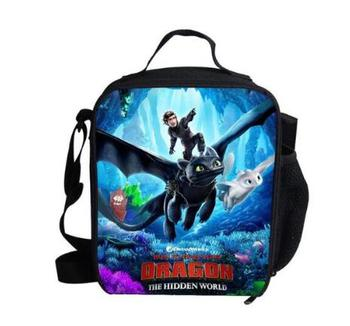 How to Train Your Dragon 3 Cooler Lunch Bag Cartoon Girls Portable Thermal Food Picnic Bags for School Kids Boys Lunch Box Tote фото