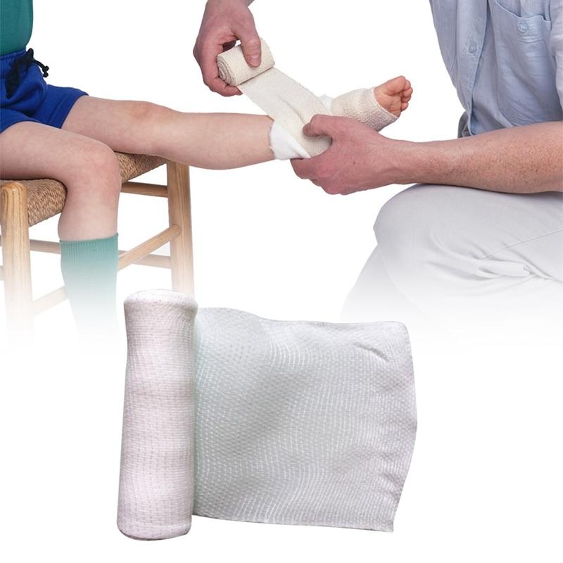 1Roll  10cmx4.5m Elastic Bandage First Aid Kit Gauze Roll Wound Dressing Nursing Emergency Care Bandage