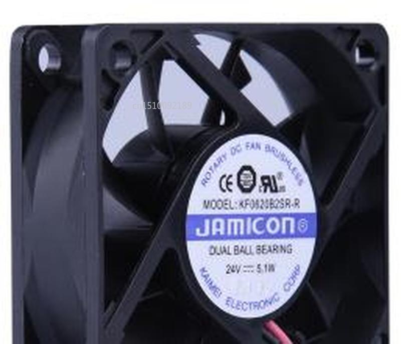 For Jamicon KF0620B2SR-R DC 24V 5.1W 60x60x20mm 2-wire Server Cooler Fan Free Shipping