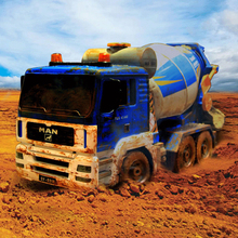 40CM 1:20 RC Truck Simulation 2.4Ghz Electric Remote Control Engineering Cement Mixer Radio Controlled Toys With Light and Voice