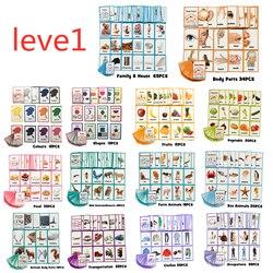 26 catégories 760 cartes enfants apprendre anglais mot carte anglais papier carte enfants jouets éducatifs pour enfants jouet d'apprentissage précoce