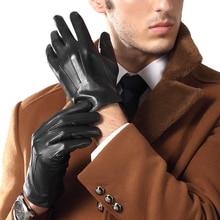 Genuien Leather Gloves Male Spring Autumn Thin Sheepskin Man Business Casual TU3863-56