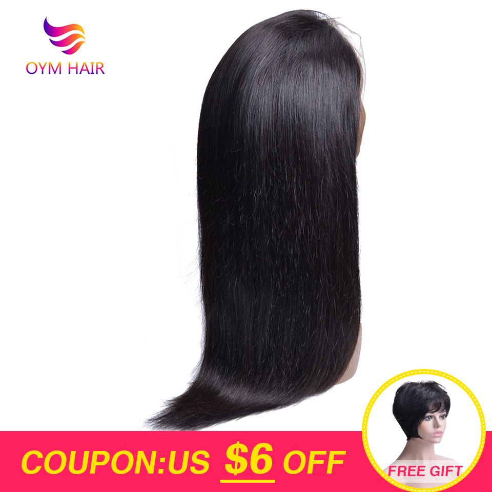 Brazilian Wig 13*4 Straight Lace Front Human Hair Wigs For Black Women Non-Remy Human Hair Wigs Pre Plucked With Baby Hair