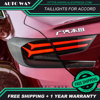 Car Styling Case for Honda Accord Taillights 2018-2019 for Accord LED taillight Tail Lamp+Turn Signal+Brake+Reverse LED light
