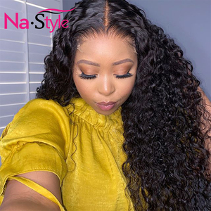 Image 3 - Curly Human Hair Wig 26Inch 13x4 Glueless Lace Front Human Hair Wigs Pre Plucked Bleached Knots 150 250 Brazilian Wig Remy Hair
