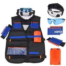 Fléchettes électriques jouet Airsoft pour garçons, 6 pièces, accessoires de pistolet Nerf gilet tactique, tête à trou en mousse, recharge de balle souple pour enfants