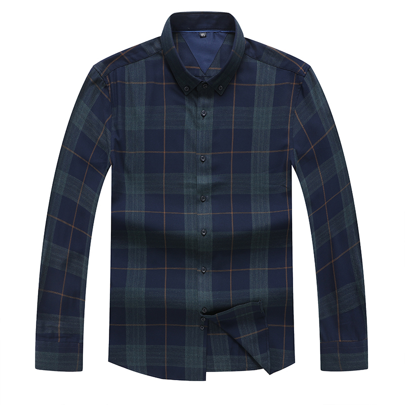 8XL 7XL 6XL Plus Size Long Sleeve Shirt Men Business Casual Shirts Men Clothes 2020 Autumn New Arrivals Plaid Camisa Masculina