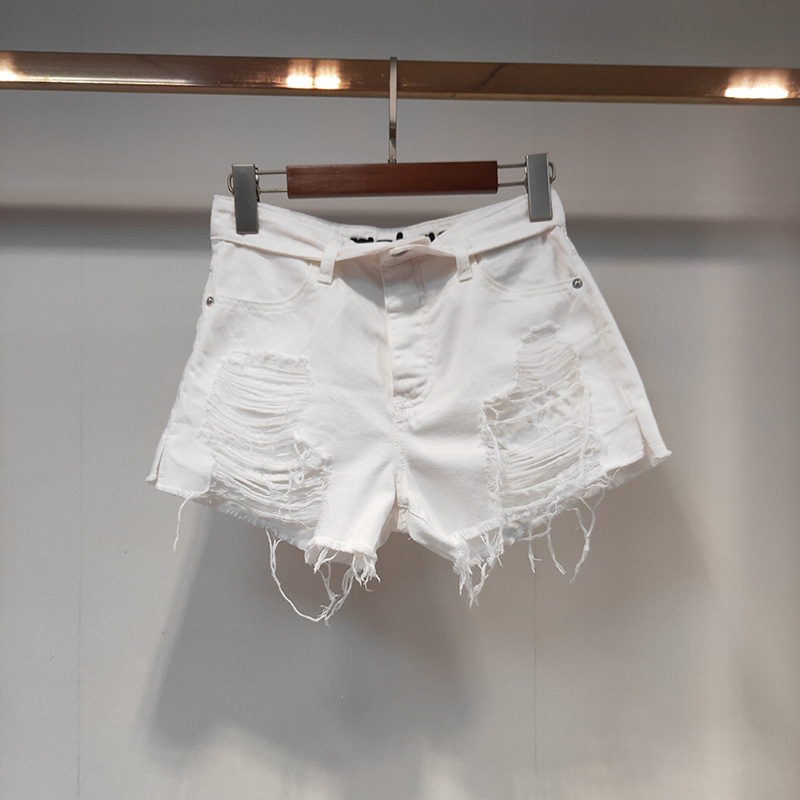 Women Pants 2020 Spring and Summer New Women's High Waist Letter Embroidery Denim Shorts Women