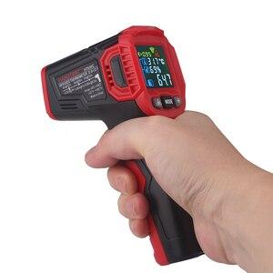 Image 5 - Habotest HT650C Temperatuur vochtigheidsmeter Hygrometer Digitale Termometer Infrarood Laser Thermometer Weerstation