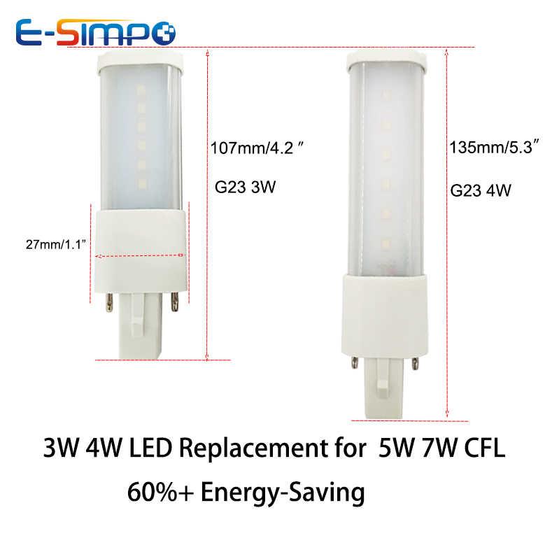 G23 LED אופקית Plug מנורת L107mm/3W L135mm/4W 2835 LED בר ight מנורת AC 85-135V/195-265V 180 תואר LED אור הנורה PL מנורה