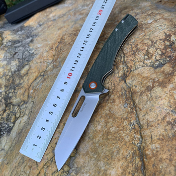 TUNAFIRE one D2 Blade High-end linen Handle Camping Hunting Folding Knife Outdoor Pocket Survival edc Knife 3