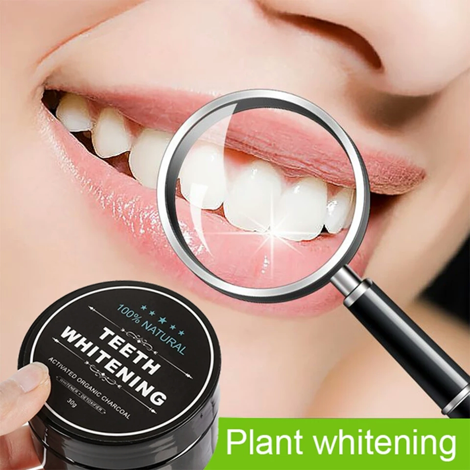 Daily Use Teeth Whitening Scaling Powder Oral Hygiene Cleaning Packing Premium Activated Bamboo Charcoal Powder white