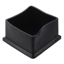 Practical Boutique Square Black Rubber 50mmx50mm Foot for Table Chair Leg(China)