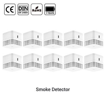 CPVan detektor dymu EN14604 czujnik certyfikat CE czujnik alarmowy 5 lat żywotność baterii czujnik dymu czujka alarmowa do wykrywania zadymienia czujnik alarmowy tanie i dobre opinie M10 5 Years battery Czujka dymu wireless smoke detector sensor detector alarm detector smoke sensor white 5 years battery life