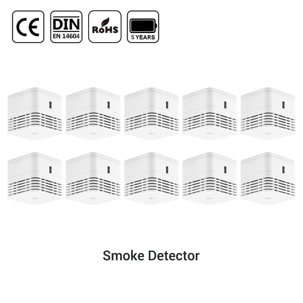 CPVan Smoke Detector EN14604 Sensor Detector CE Certified Alarm Detector 5 Years Battery Life Smoke Sensor Smoke Alarm Detector