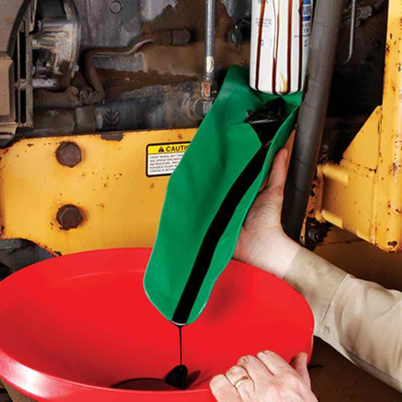 Flexible Draining Tool Oil Funnel Auto Funnel Reusable Foldable Draining Funnel Oil Guide Tool for Cars Trucks Motorcycles 2 Pcs Long and Short