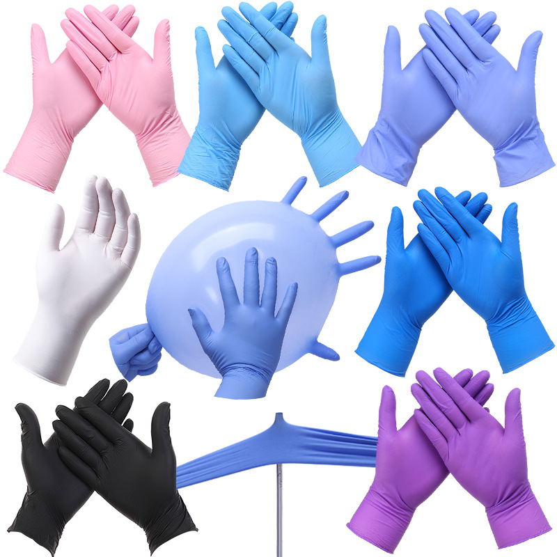 100PC Disposable Transparent Gloves Medical Labor Protection PVC Gloves Of Food Grade Latex 50 Pairs