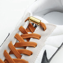 Elastic Shoelaces Sneakers Safety Metal-Lock Lazy Flat Kids Fashion Fast Unisex 1-Pair