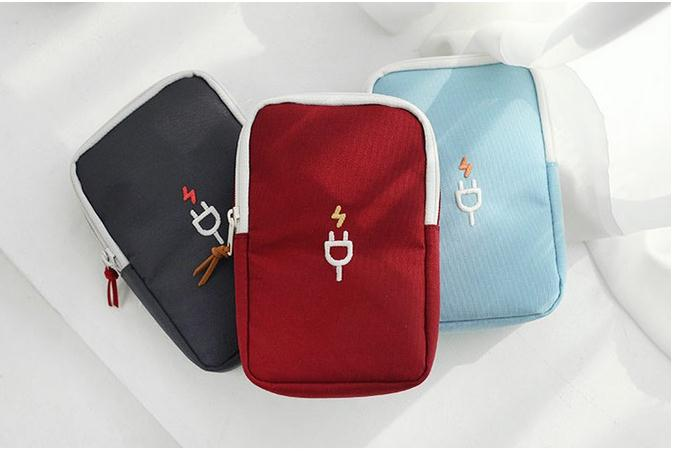 2019 New Casual Zipper Storage Bag Earphone Charging Line Storage Organizer