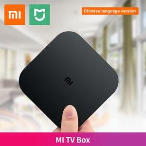 Original Xiaomi funda para TV MI blanco negro 4C 4K TV Cortex-A53 Quad Core 64bit 1G + 8G 2,4G WiFi Set Top Box Idioma Chino