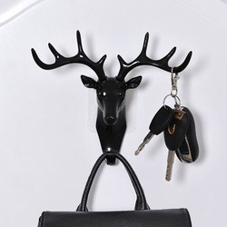 Wall Hanging Hook Vintage Deer Head Antlers for Hanging Clothes Hat Scarf Key Deer Horns Hanger Rack Wall Decoration