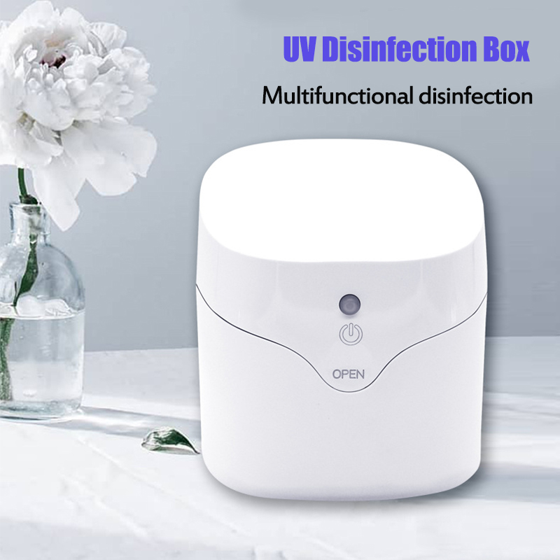 Portable 59s Fast Ultraviolet Light Disinfection Cabinet UV Sterilizer For Mini Nail Tools Toothbrush Nipple Earring Watch