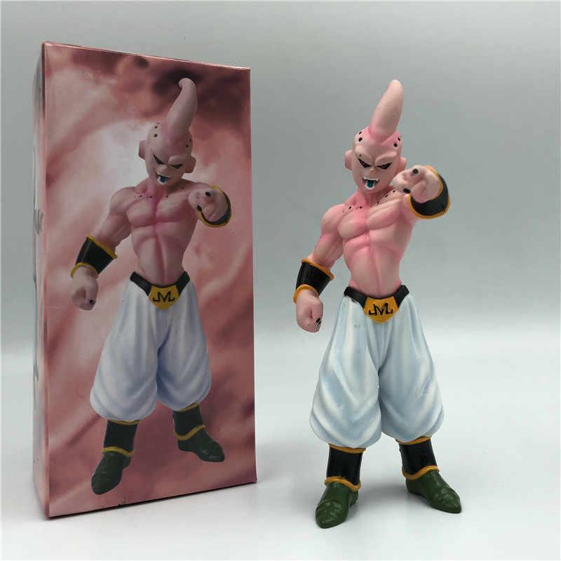 Dragon ball z majin boo buu mal final formando goku lutador figura de ação pvc dbz goku buu modelo brinquedo 18cm