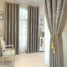Tree Jacquard Curtain Modern Cotton Linen Tree Curtains for Bedroom Living Room  blackout curtains