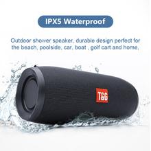Potężny bezprzewodowy głośnik Bluetooth przenośny głośnik basowy wodoodporny głośnik zewnętrzny wsparcie AUX TF USB Subwoofer Stereo Boombox tanie tanio IRONGEER Przenośne Baterii Z tworzywa sztucznego Pełny Zakres 2 (2 0) CN (pochodzenie) 25 W NONE 10 w Radio Inne Napster