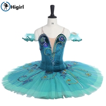 adult professional ballet tutu green Le Corsaire Gulnara Tutu Adult Performance stage costumesBT9038