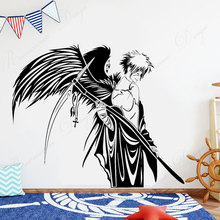 Japan Anime Warrior Angel of Death wall sticker vinyl home decor for kids childrens room bedroom decals interior decoration 4361