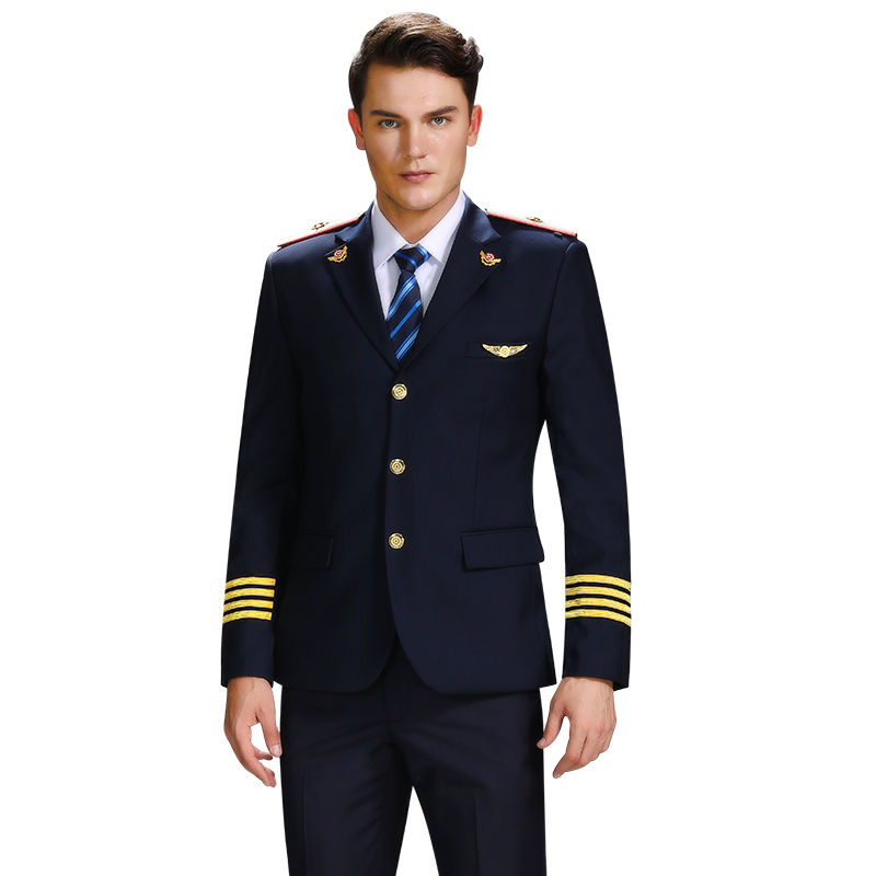 Autumn Men Railway Uniform Suit Jacket Sets Men's High-Speed Rail Train Attendant Suit Overalls Captain Slim Fit Uniform Costume