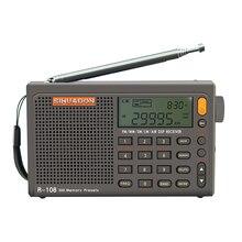 Radiwow SIHUADON R 108 FM 스테레오 디지털 휴대용 라디오 AM SW 공기 라디오 사운드 알람 기능 디스플레이 시계 온도 스피커