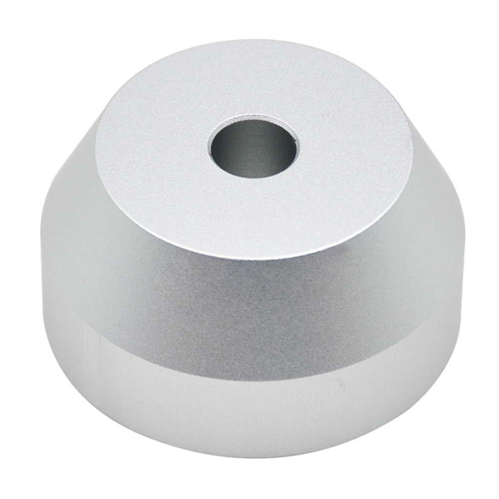7 Inch Replacement Solid Metal <font><b>45</b></font> RPM Cone Shape Compact Connector Professional Dome Universal <font><b>Adapter</b></font> Turntable Home Silver image