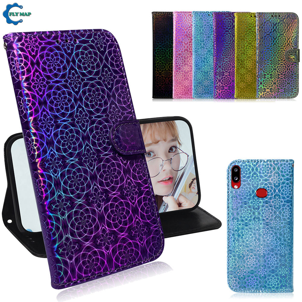Shiny Cover for Samsung Galaxy A10s A 10s 2019 A107 SM A107FD <font><b>A107F</b></font>/DS Card Slot Wallet Phone Case SM-A107FD SM-<font><b>A107F</b></font>/DS Case image