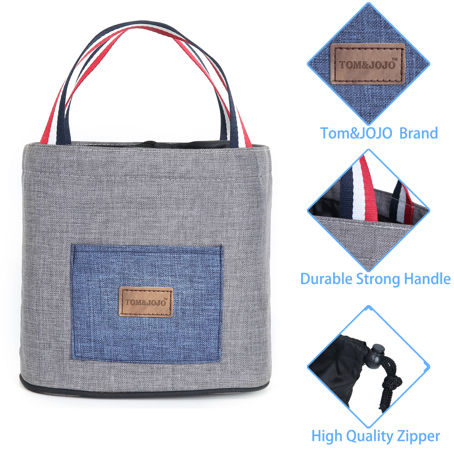 Portable Thermal Lunch Bag for Women Kid Men Pouch Storage Box Food Picnic Cooler Boxes bag Insulated Tote Bag Storage Container in Lunch Bags from Luggage Bags