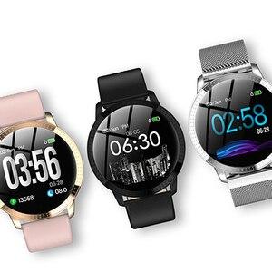 Image 3 - SCELTECH נשים חכם שעון IPS מסך עמיד למים דם לחץ ניטור מתכת Starp רב ספורט מצבי CF18 SmartWatch