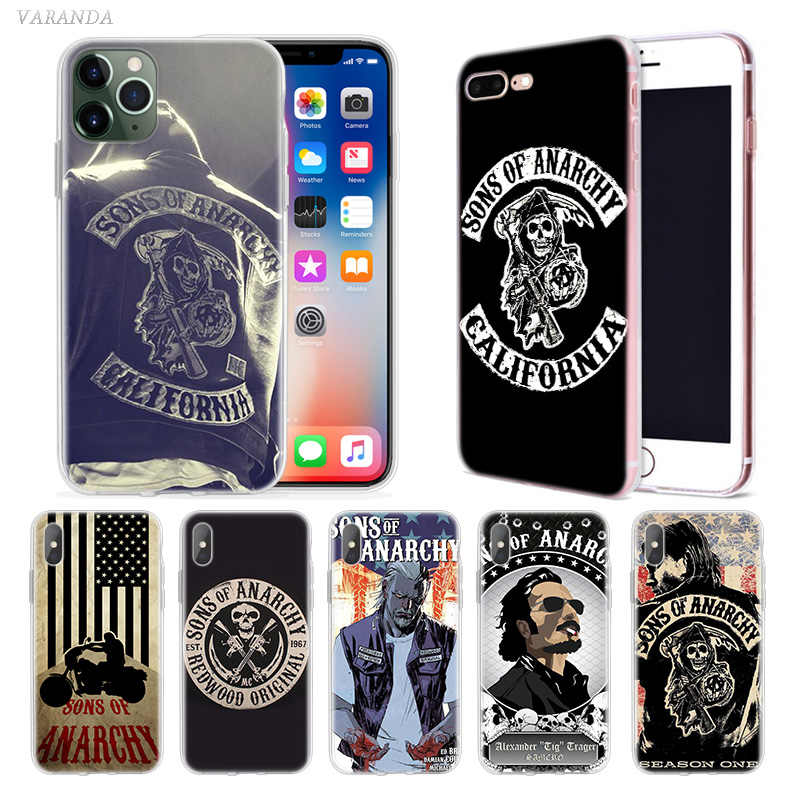 ทีวี Sons of Anarchy สำหรับ Apple iPhone 11 Pro X XS MAX XR 7 8 6 6S PLUS 7S 5 S SE 5C Soft TPU Coque Carcasa ฝาครอบ