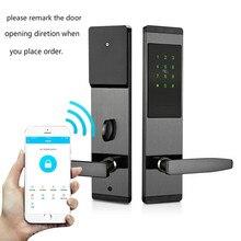 Безопасность Электронный БЕСКЛЮЧЕВОЙ дверной замок цифровой смарт-приложение wifi сенсорный экран клавиатура пароль замок двери