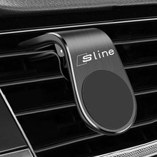 Metal Magnetic Car Phone Holder for Audi S Line RS S3 S4 S5 S6 S8 RS3 RS4 RS5 RS6 A3 A4 A5 A6 Accessories Car Styling